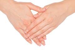 Schöne Frauenhände Lizenzfreies Stockfoto