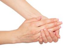 Schöne Frauenhände Lizenzfreies Stockbild