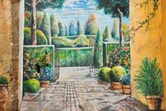 Schöne Gartengraffiti lizenzfreie stockfotos