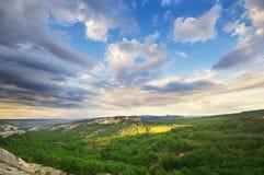 Schöne Gebirgslandschaft Stockfotografie
