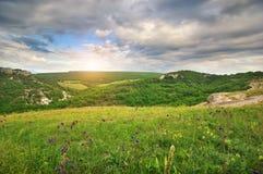 Schöne Gebirgslandschaft Stockbild