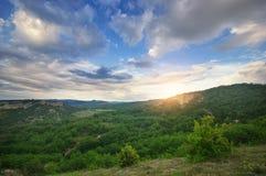 Schöne Gebirgslandschaft Stockfotos