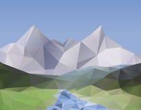 Schöne Gebirgslandschaft - Polygonhintergrund Stockfoto
