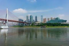 Schöne Gebirgsstadt in Chongqing Regierung, Lichter lizenzfreie stockfotos