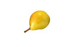 Schöne gelbe Birnennahaufnahme auf einem weißen Hintergrund Lizenzfreies Stockbild