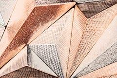 Schöne geometrische dreidimensionale Metallzusammenfassung Stockfotografie