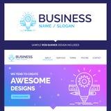 Schöne Geschäfts-Konzept-Markenname-Entwicklung, Idee, Birne, p vektor abbildung