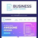 Schöne Geschäfts-Konzept-Markenname-Kontrolle, Archivierung, Liste, listi vektor abbildung