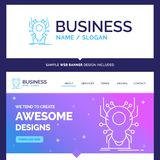 Schöne Geschäfts-Konzept-Markenname-Wanze, Insekt, Spinne, Virus stock abbildung