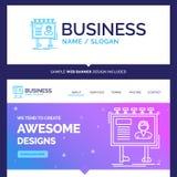 Schöne Geschäfts-Konzept-Markennameanzeige, Werbung vektor abbildung