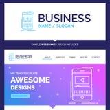 Schöne Geschäfts-Konzept-Markennamemedien, Musik, Spieler, vide vektor abbildung