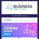 Schöne Geschäfts-Konzept-Markennameversicherung, Familie, Haus, p stock abbildung
