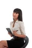 Schöne Geschäftsfrau stockfoto