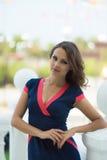 Schöne Geschäftsfrau, das moderne Büro Lizenzfreie Stockfotos