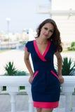 Schöne Geschäftsfrau, das moderne Büro Stockfotos