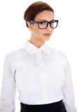 Schöne Geschäftsfrau in den Gläsern Lizenzfreies Stockbild