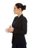 Schöne Geschäftsfrau im Gesellschaftsanzug Lizenzfreie Stockbilder