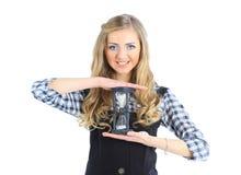 Geschäftsfrauen mit schönem Hourglass Lizenzfreies Stockfoto