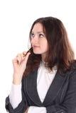 Schöne Geschäftsfrau trennte Lizenzfreie Stockfotos