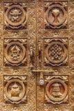 Schöne geschnitzte Tür Stockfoto