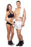 Schöne gesund-schauende Paare in der Sportausstattung Lizenzfreie Stockfotografie