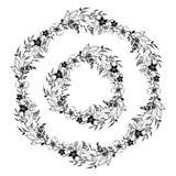 Schöne Girlandenfrühlingsblumen-Vektorillustration lizenzfreie abbildung