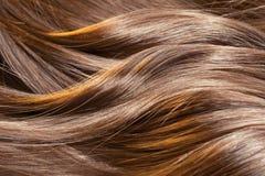 Schöne glänzende Haarbeschaffenheit Stockfotos