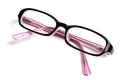 Schöne Gläser getrennt worden auf Weiß stockbild
