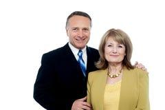Schöne glückliche ältere Paare Stockfoto