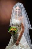 Schöne glückliche Braut Stockbilder