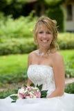 Schöne glückliche Braut Lizenzfreies Stockfoto