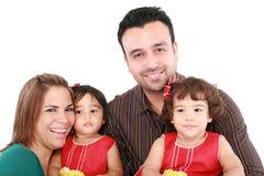 Schöne glückliche Familie stockfoto