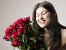 Schöne glückliche Frau lizenzfreies stockbild