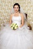 Schöne glückliche junge Braut Lizenzfreies Stockbild