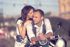 Schöne glückliche junge Paare Lizenzfreies Stockfoto