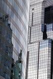 Schöne Glasoberflächen Refletive auf diesen im Stadtzentrum gelegenen Kansas City-Büro-Wolkenkratzern Lizenzfreie Stockfotografie