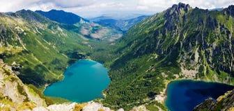 Schöne Glazial- Seen in polnischen Tatras-Bergen stockfotos