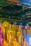 Schöne goldene Buddha-Statue im chinesischen Tempel Thailand Lizenzfreies Stockbild