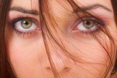 Schöne grüne Augen Stockbild