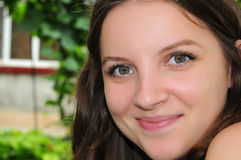 Schöne grüne Augen Stockfotografie