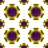 Schöne grüne Blume Nahtloses Blumenmuster Vektor Lizenzfreie Stockfotos