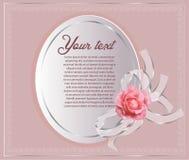 Schöne Grenze mit rosafarbenem Rosa stockbild