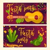 Schöne Grußkarte, Einladung für Fiestafestival Stockfotografie
