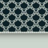 Schöne Grußkarte mit empfindlichem Muster Vektor lizenzfreie stockbilder