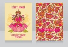 Schöne Grußkarten für diwali Festival vektor abbildung