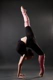 Schöne gymnastische Haltung Stockfotos