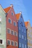 Schöne Häuser in Fussen Stockbild