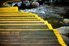 Schöne hölzerne Treppen Stockfotos