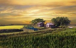 Schöne Hütten stockbilder
