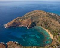 Schöne Hanauma-Bucht Oahu Hawaii lizenzfreies stockbild